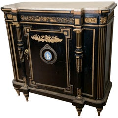 Antique Cabinet, Bronze Detail and Wedgwood Cameo