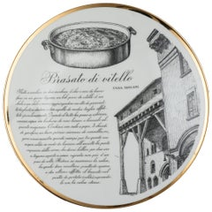 """Original Vintage Piero Fornasetti's """"Brasato"""" Plate"""