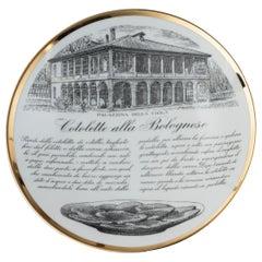 "Original Vintage Piero Fornasetti's ""Cotolette"" Plate"