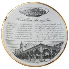 "Original Vintage Piero Fornasetti's ""Tortelloni"" Plate"