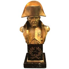 Rich Looking French Empire Bronze Napoleon Bust