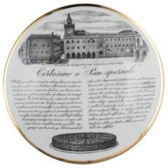 Original Vintage Piero Fornasetti's 'Pan Speziale' Plate