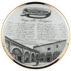 """Original Vintage Piero Fornasetti's Ragù Alla Bolognese"""" Plate"""