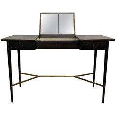 Ebonized Mahogany Vanity Table by Paul McCobb for Calvin, Irwin Collection