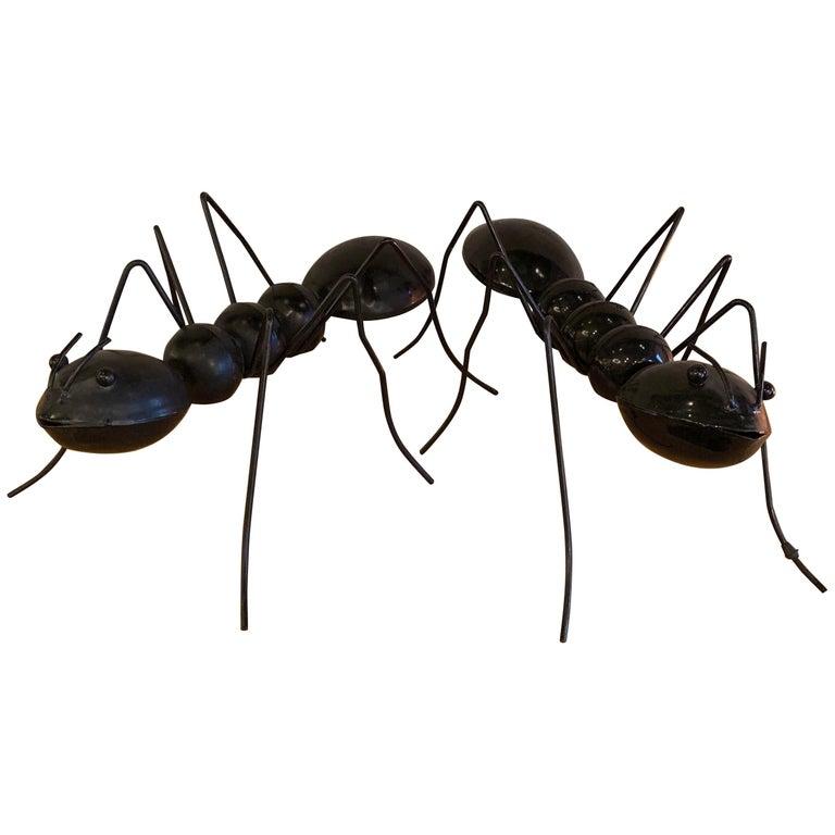 Large Enameled Metal Ant Sculptures For Sale