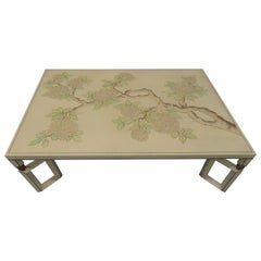 Midcentury Lacquered Chinoiserie Style Coffee Table
