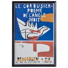 Le Corbusier Vintage Exhibition Poster
