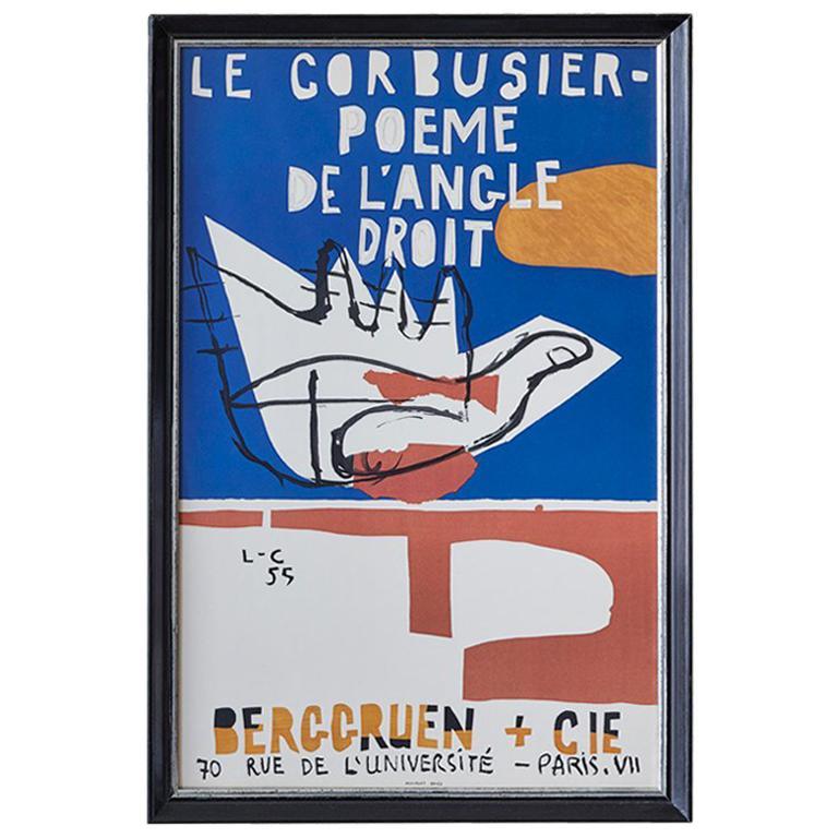 Le Corbusier Vintage Exhibition Poster For Sale