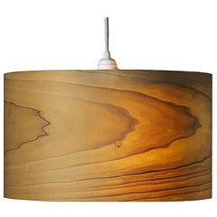 ARA Poplar Wood Drum Chandelier Pendant