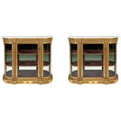 Pair of 19th Century Gilt Decorated Side Cabinets