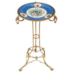 Late 19th Century Porcelain and Ormolu Gueridon in Sevres Taste