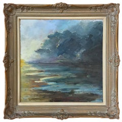 Antique Framed Landscape Oil Painting on Canvas by Miton Geinafot