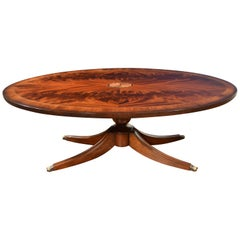Oval Mahogany Georgian Style Coffee Table by Leighton Hall