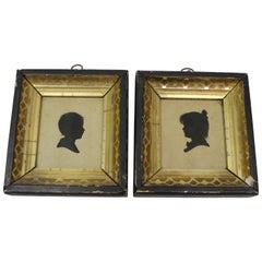 Pair of Antique Silhouette Miniatures