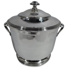 Cartier Mid-Century Modern Sterling Silver Ice Bucket