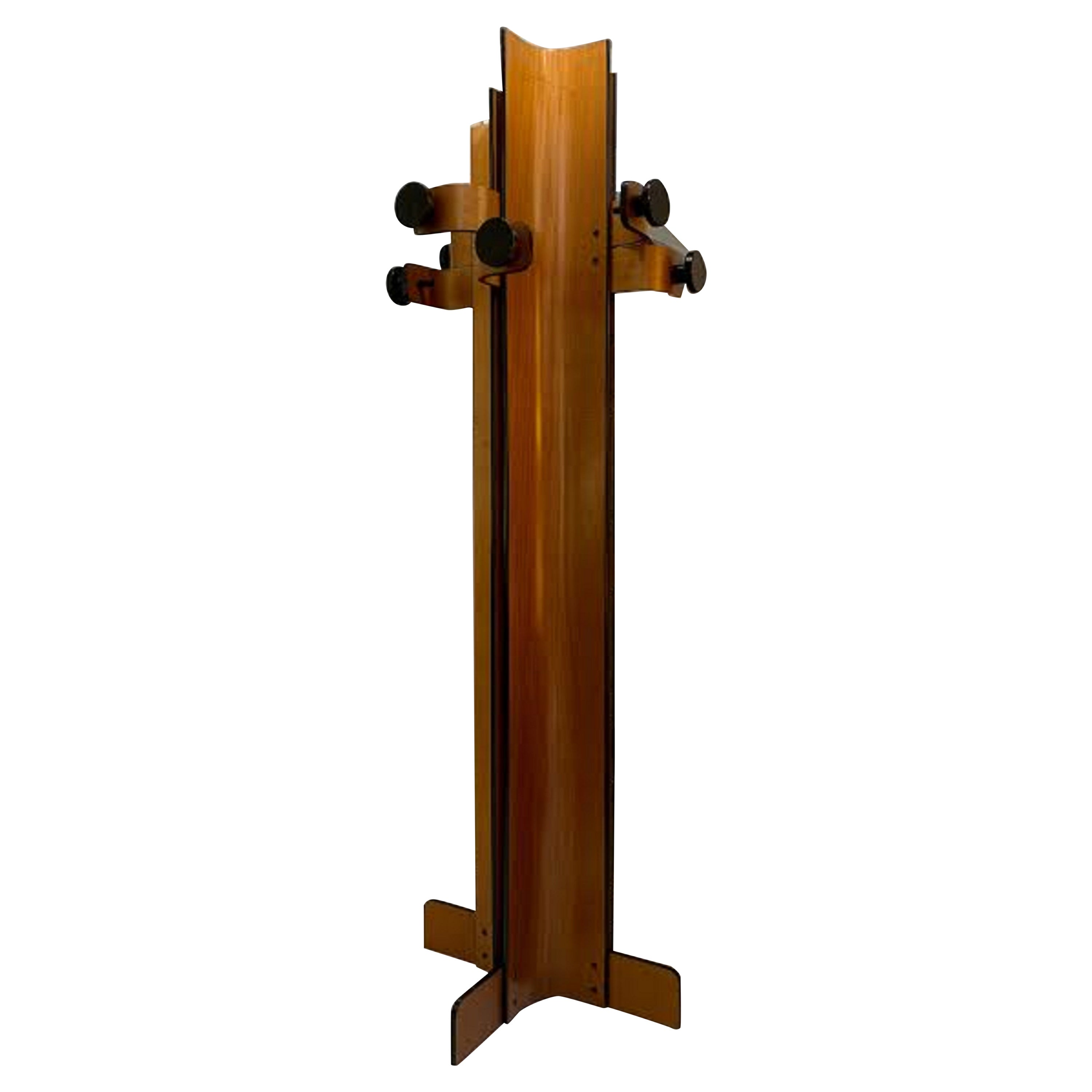 Coat Rack in Multiplex Curved Wood by Campo Graffi, circa 1960