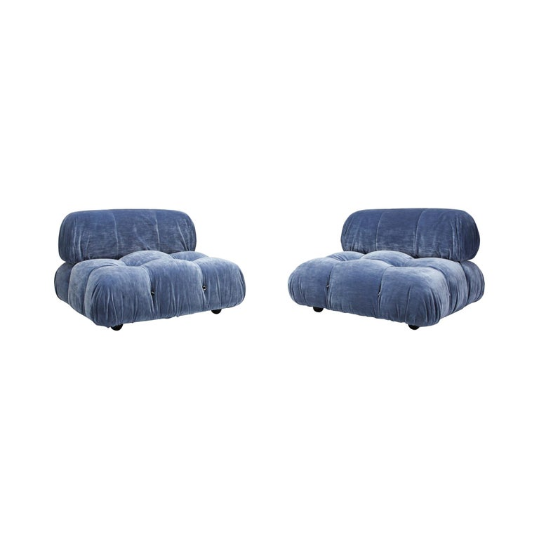 Camaleonda Pair of lounge chair by Mario Bellini For Sale