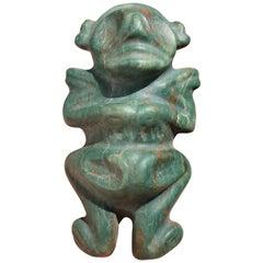 """Caribbean Rich Treasure Jade, Female """"Fertility"""" Pendant, 500 Years#6"""