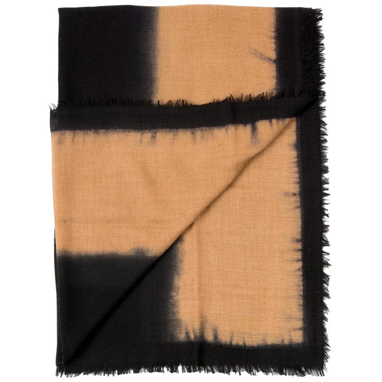 ARIA BLACK Cashmere  Scarf / Wrap  For Sale