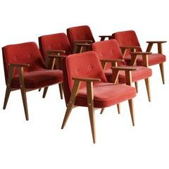 Set of Six 366 Armchair, Jozef Chierowski, 1960s