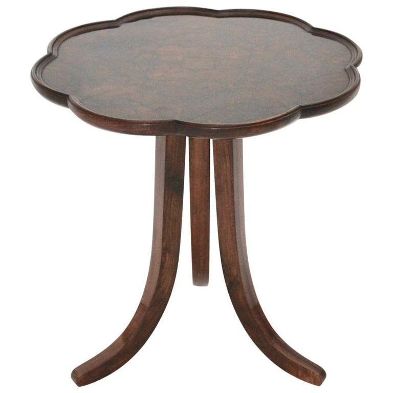 Art Deco Era Vintage Walnut Side Table by Josef Frank circa 1925 Austria For Sale