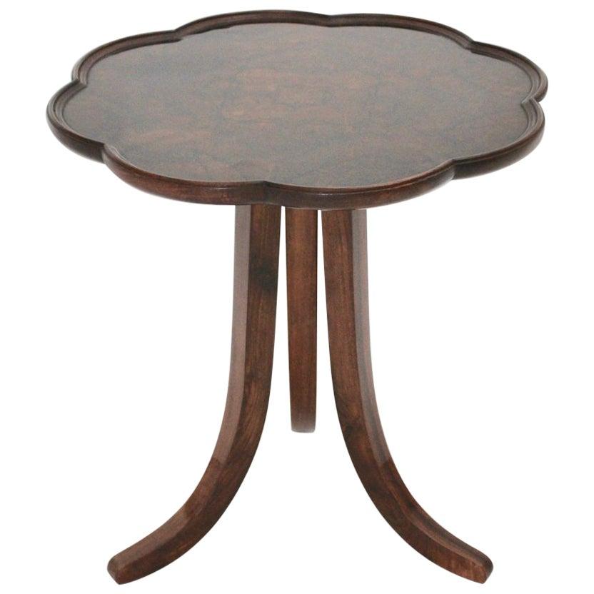 Art Deco Era Vintage Walnut Side Table by Josef Frank circa 1925 Austria