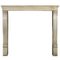 19th Century Fine French Hard Stone Antique Fireplace Surround