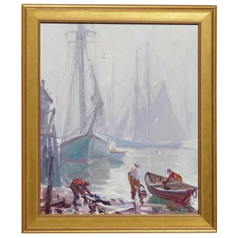 Emile Albert Gruppe 'Gloucester Fog' Painting