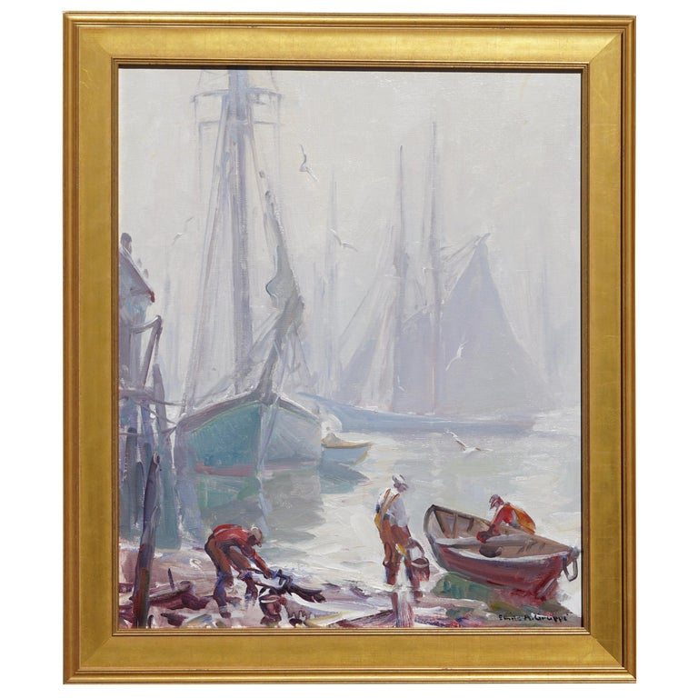 Emile Albert Gruppe 'Gloucester Fog' Painting For Sale