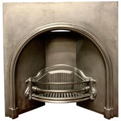 Large 19th Century Victorian Cast Iron Arched Fireplace Insert