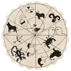 Schumacher Charlap Hyman Herrero Astrologia Zodiac Black Natural Abaca Round Rug