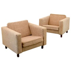 Pair of Hans Wegner GE-300 Lounge Chairs