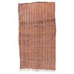 Tribal Moroccan Carpet, Pink Tones