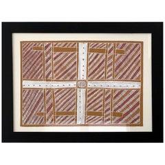 Framed Australian Aboriginal Painting from Elcho Island