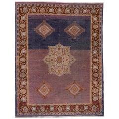 Purple Indian Agra Carpet