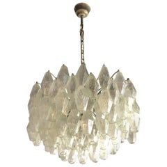 20th Century Clear Murano Chandelier by Carlo Scarpa