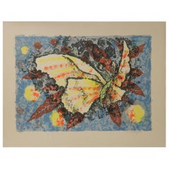Jean Lurcat Lithograph signed Butterfly French Midcentury