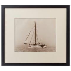 Original Print of the Dutch Sailing Yacht Verona Signed Kirk Cowes