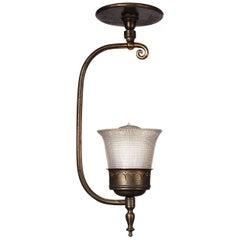 Bow Arm Prismatic Flush Mount Lamp