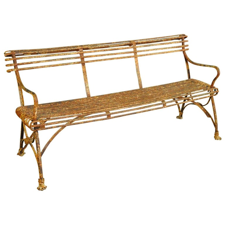 19th Century Arras Garden Bench For Sale