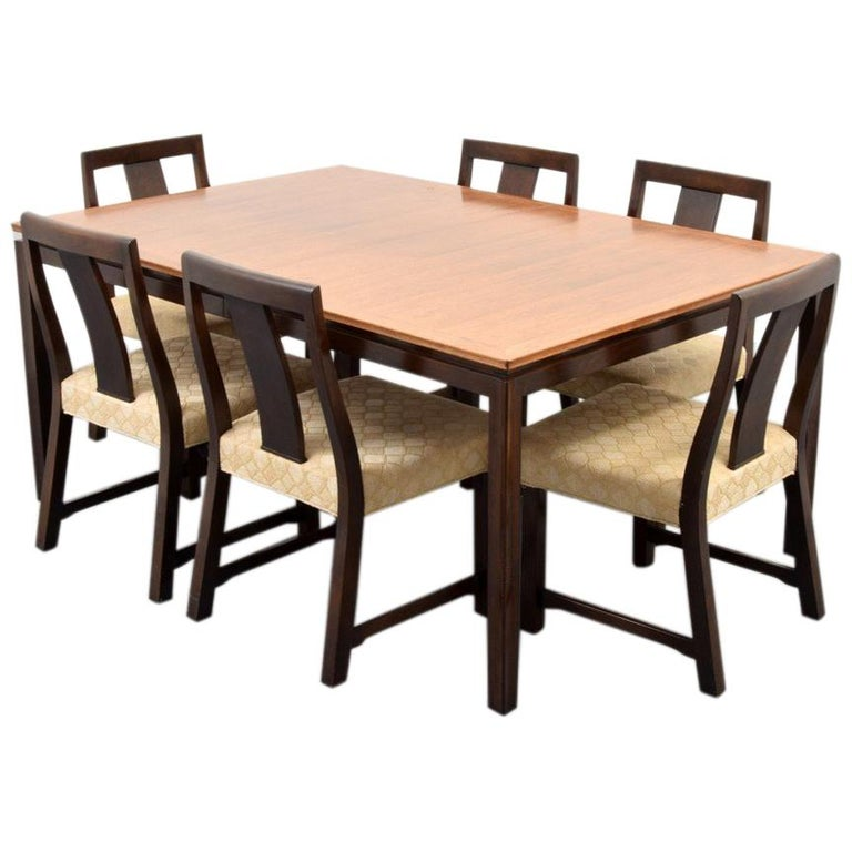 Edward Wormley Dining Table and 6 Chairs For Sale