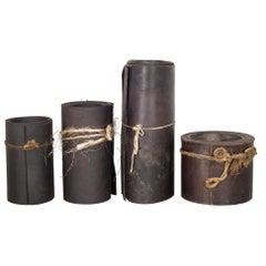 Vintage Cobbler Shop Leather Rolls, circa 1920-1940