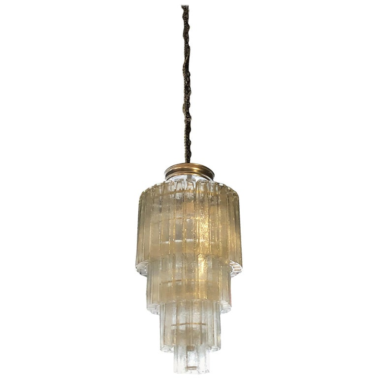 20th Century Vintage Tiered Murano Chandelier For Sale