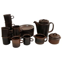 """Ruska"" Coffee Set, 19 Pieces, Ruska, Arabia Designed by Ulla Procopé"