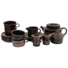 """Ruska"" Tea Set, 15 Pieces, Ruska, Arabia Designed by Ulla Procopé"