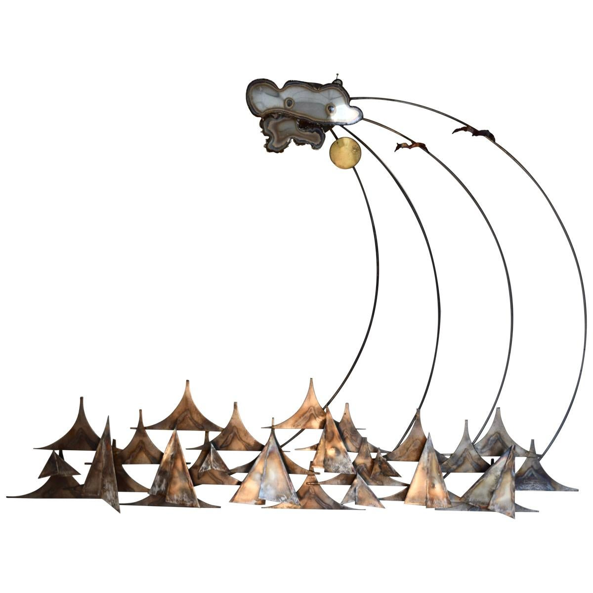 A.J. Stillman Mixed Metals Hanging Wall Sculpture