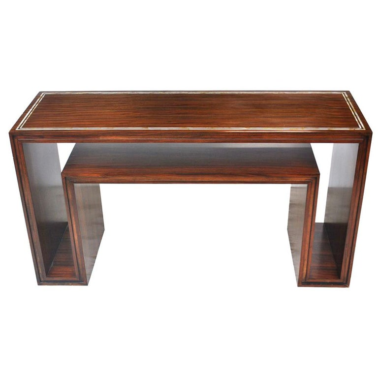 Modern Rosewood With Mother Of Pearl Entry Sofa Table For