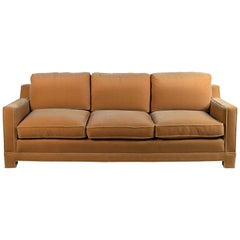 Impeccable Mohair Designer Sofa in the Style of Jean-Michel Frank