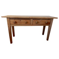 Antique Americana Two-Drawer Console Table or Serving Table, 1890s