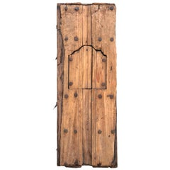 Colonial Sabino Wood Door Found in Western México, circa 1800
